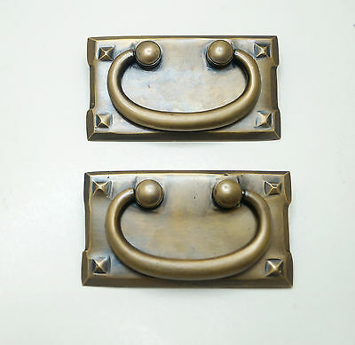 "3.58"" 2 pcs Vintage Retro Four Star Handle Brass Cabinet Drawer Handle Pulls"