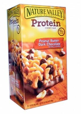 Nature Valley Protein Bars, Peanut Butter Dark Chocolate, 24 Count