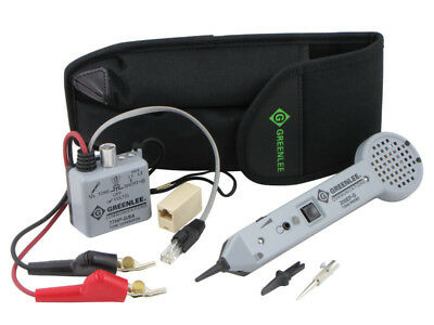 Greenlee 701K-G 6A Professional Tone and Probe Tester Kit - ABN Clips - NEW -