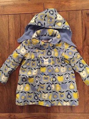 Girls Beauty And The Bib Girls Lined Rain Coat 3-4 Yrs