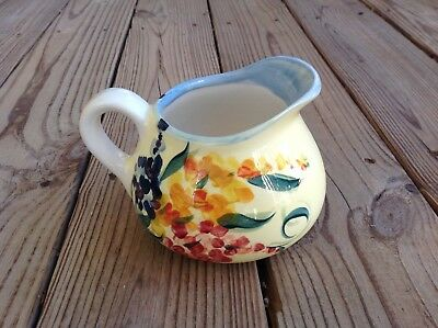 "Signed 1979 Gail Pittman GARDEN VIEW 4.5"" Small Pitcher * Southern Living"