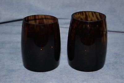 Partylite Pair of Leopard Print Votive Candle Holders