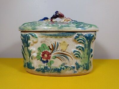 Vintage Hand Painted Bowl With Lid ~ Made in Japan ~ Fine Piece ~ Antique ?