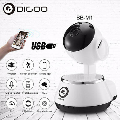 Digoo Smart Wireless Baby Monitor Home Security IP Camera HD 720P Intercom Audio