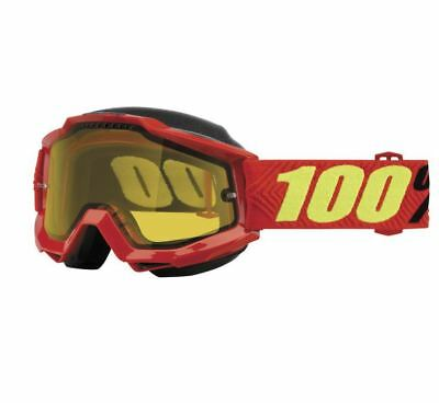 100% Accuri Snow Goggles - Saarinen with Yellow Lens