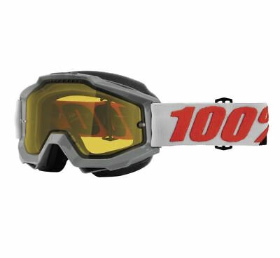 100% Accuri Snow Goggles - Solbeg with Yellow Lens