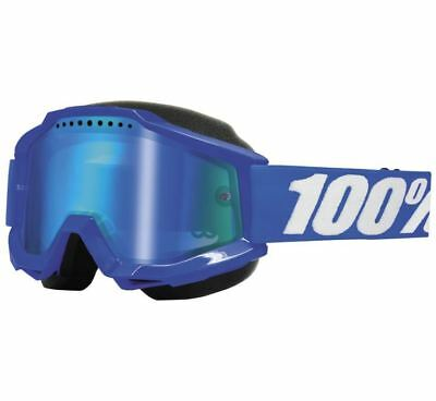 100% Accuri Snow Goggles - Reflex Blue with Blue Lens