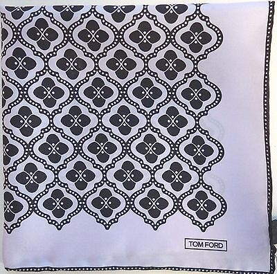 $165 NWOT Authentic TOM FORD 100% SILK Pocket Square Pochette Handkerchief