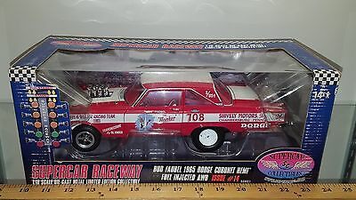 1/18 HIGHWAY 61 SUPERCAR COLLECTIBLES BUD FAUBEL 1965 DODGE CORONET HEMI RED yd