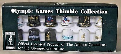 1996 Atlanta Olympics Games Thimble Collection Set of 12 in Original Package