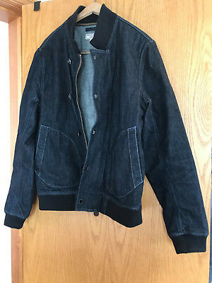 "J. CREW   WALLACE & BARNES MEN""S DENIM DECK JACKET size Medium SOLD OUT"