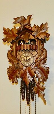 ****beautiful Musical Black Forest Germany Cuckoo Clock*****