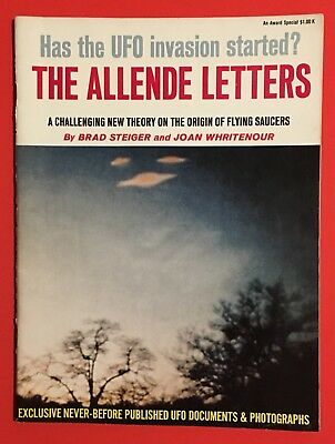 Vintage The Allende Letters Steiger Whritenour 1st Printing UFO Flying Saucers