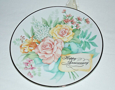 VTG Avon Collectibles 1995 Joyous Occasions Anniversary Plate Porcelain Silver