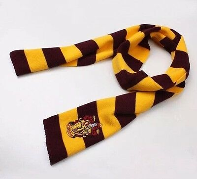 new Harry Potter Gryffindor Scarf Red & Gold Cosplay Costume Knit Wool gift