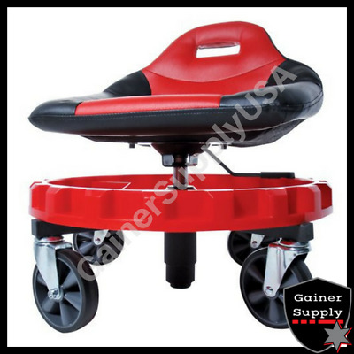 Heavy Duty Mechanics Creeper Seat Rolling Work Stool Tools Tray Chair Auto Shop