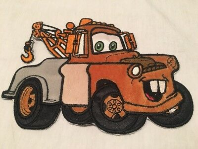 """Disney Pixar Cars Mater Sew On Iron On Patch Large 7"""" Long X 6"""" Tall"""
