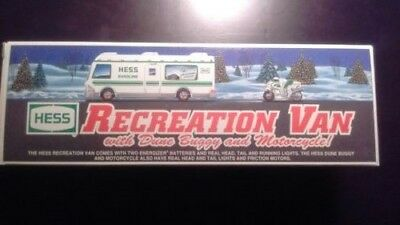 Hess 1998 Truck Recreation Van with Dune Buggy and Motorcycle New in Box