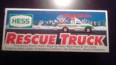1994 Hess Rescue Truck New In Box!