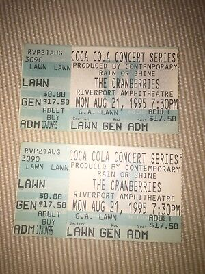 Two The Cranberries Tickets 1995 Riverport Amphitheatre