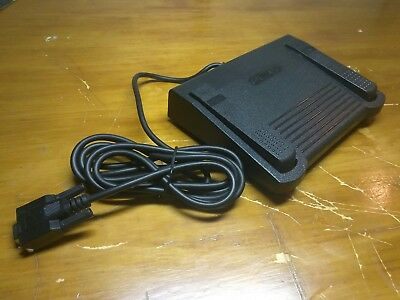 EUC Infinity IN-DB9 Dictaphone Dictation Transcriber Foot Pedal Serial DB9