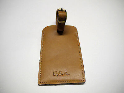 Luggage Tag genuine leather for ( 50 ) Pieces   Made in USA