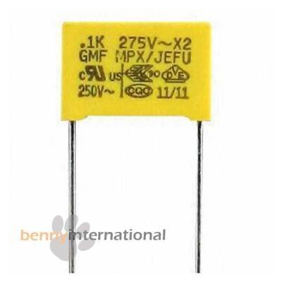 4x 0.1uF 275V AC X2 SAFETY CAPACITORS 100nF Polypropylene Film MPX Metalized