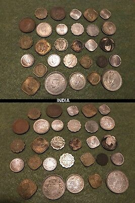 Lot of 70+ OLD world COINS - china, phillipines, malaya, persia, india and more