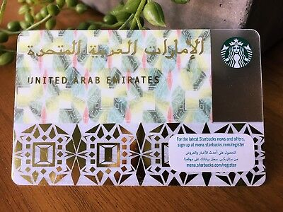 Starbucks United Arab Emirates UAE first ever country card.  FREE SHIPPING!