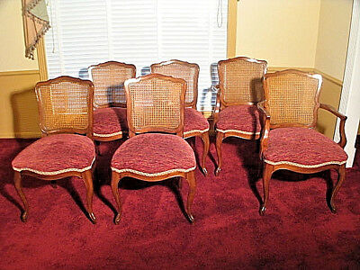 Kindel French Provincial Dining Table Chairs style 31-74 & 31-75; refin & uphol