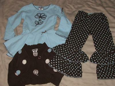 Boutique One Kid Girls Size 4T Outfit Euc