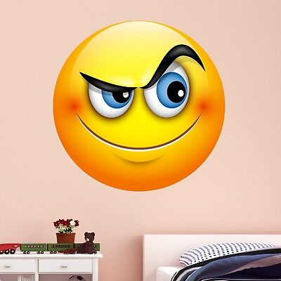 Emoji Smiley Face Character Wall Art Stickers Mural Decal Kids Bedroom Decor BN5