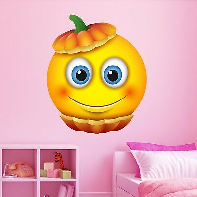 Emoji Halloween Smiley Face Character Wall Stickers Mural Decal Kids Room BN7