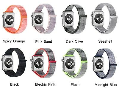 New Sports Loop Band Nylon Replacement Strap For Apple Watch Series 1 2 3 iWatch