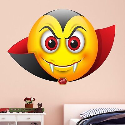 Emoji Devil Smiley Face Character Wall Art Stickers Mural Decal Kids Room BN14