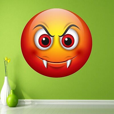 Emoji Devil Smiley Face Character Wall Art Stickers Mural Decal Kids Room BN15