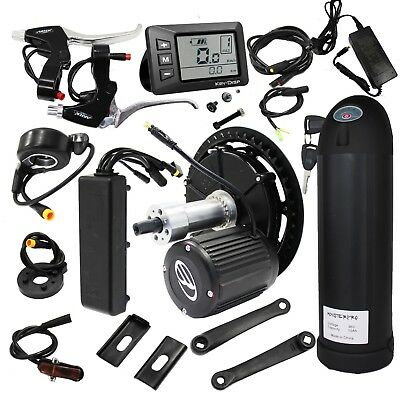 36V 350W Geared Mid-Drive Motor EBike Conversion Kits W' Controller and Battery