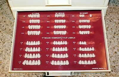 Universal Verident Polychrome Dentures Teeth Set with Over 80 Cards of Teeth
