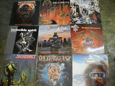 300 LP's Metal, Rock,Soul,Country, Beatles,Slayer,Lizzy,Sodom,Poltergeist,Stones