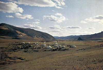 Mongolia  -  An agricultural co-operative camping in the Zhawkan Aimag