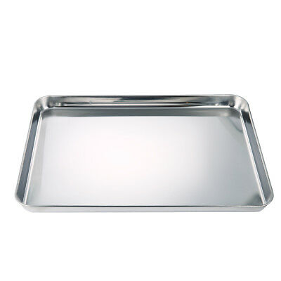 """Stainless Steel Jelly Roll Cookie Baking Sheet 12""""x 16"""" Oven Pan Kitchen Tray AU"""