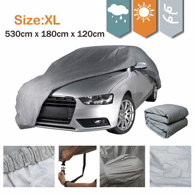 Waterproof Full Car Cover Breathable UV Protect with Buckle Heavy Duty Size XL
