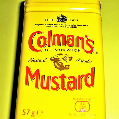 Colmans Original English Mustard Powder 57g Hot Senf Mehl Scharf €6.30/100g