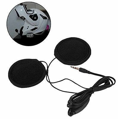 Stereo Motorcycle In-helmet Speaker 3.5mm Headphone Earphone Volume Control MP3