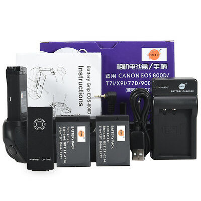 DSTE EOS800D Remote Battery Grip for CANON EOS 800D with 2 LP-E17 + USB Charger