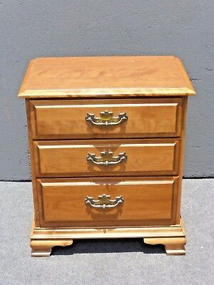 Vintage French Country Style Three Drawer NIGHTSTAND