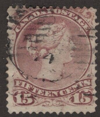 CANADA #29 15c  dated 'AU 74'   12P   LARGE QUEEN   VG-F