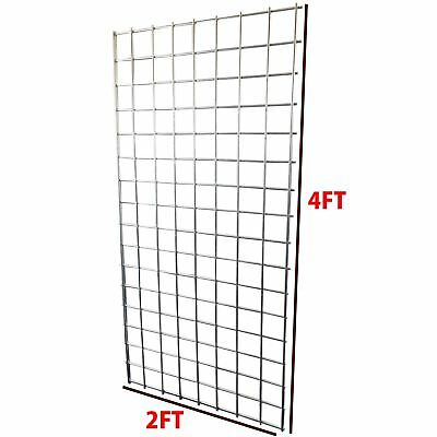 Simpa® Heavy Duty Steel Retail Shop Fitting Grid Display Panels 2FT x 4FT Sizes