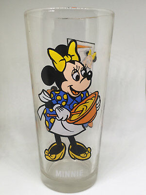 "Vintage 1978 ""Minnie Mouse"" Cooking Pepsi Glass Collector Series Disney"