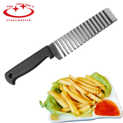 Cutter Potato Knife French Fry Blade Crinkle Cut Wavy Chip Steel Stainless Fruit